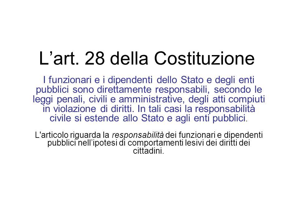 L'art. 28 della Costituzione