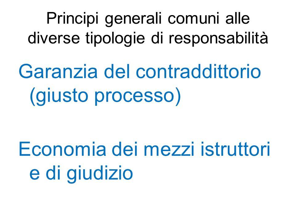 Principi generali comuni alle diverse tipologie di responsabilità