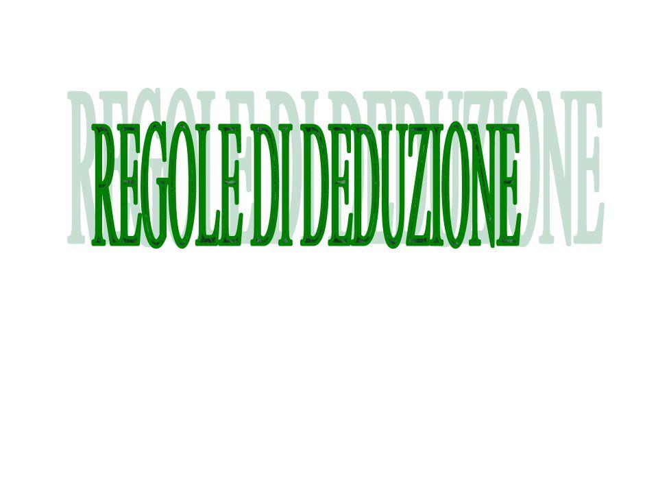 REGOLE DI DEDUZIONE