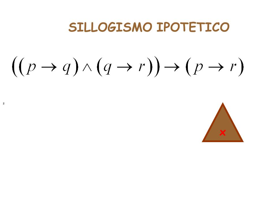 SILLOGISMO IPOTETICO ² x