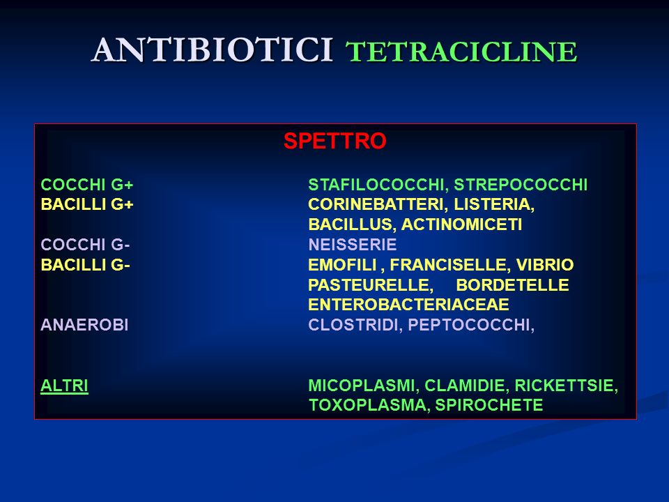 ANTIBIOTICI TETRACICLINE