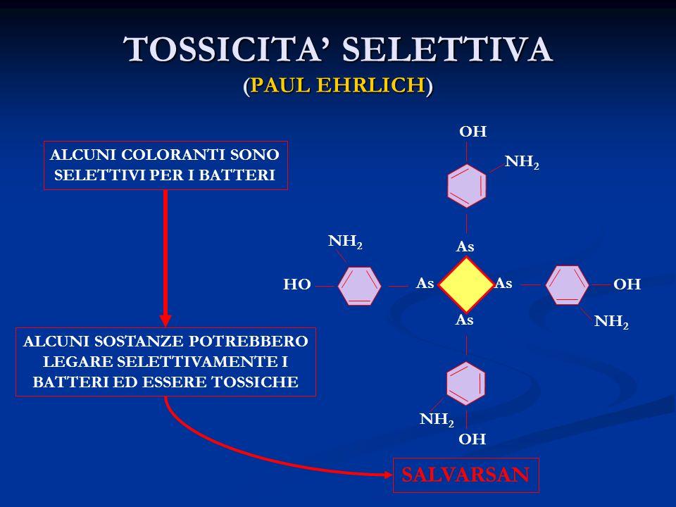 TOSSICITA' SELETTIVA (PAUL EHRLICH)