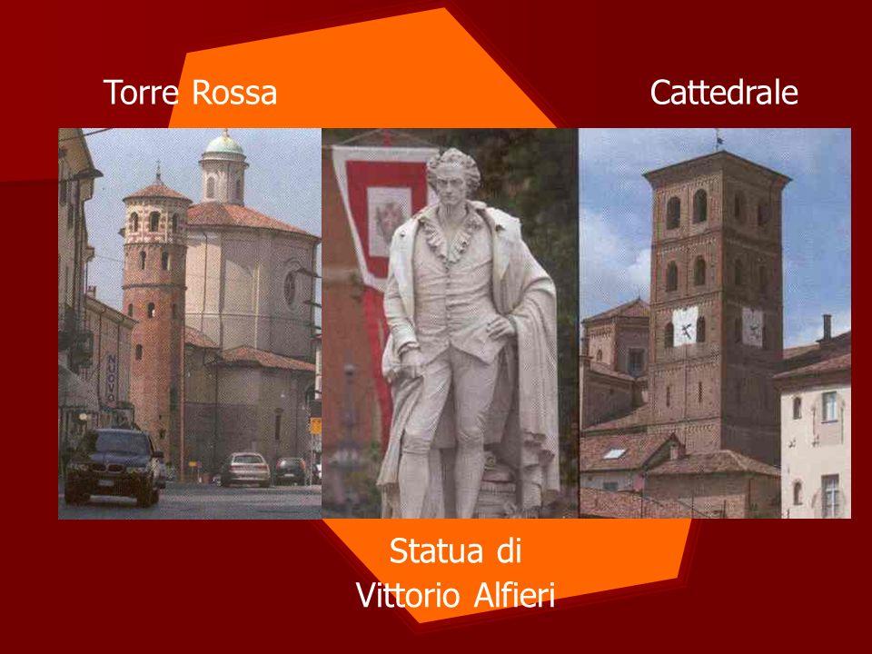 Torre Rossa Cattedrale Statua di Vittorio Alfieri