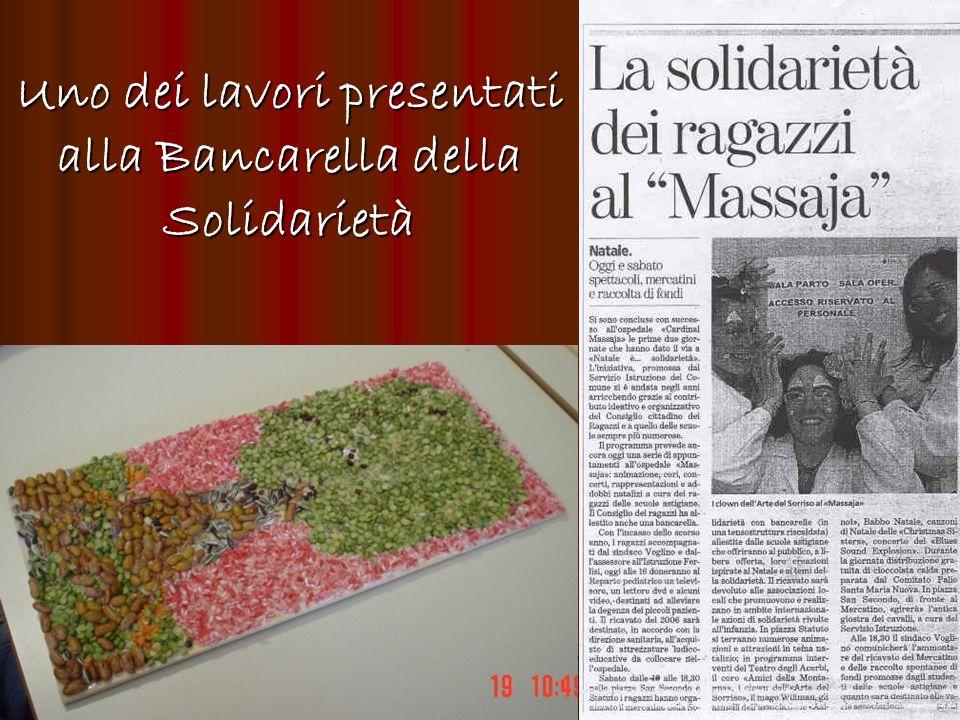 Uno dei lavori presentati alla Bancarella della Solidarietà