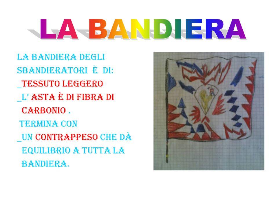 LA BANDIERA LA BANDIERA DEGLI SBANDIERATORI è DI: _TESSUTO LEGGERO