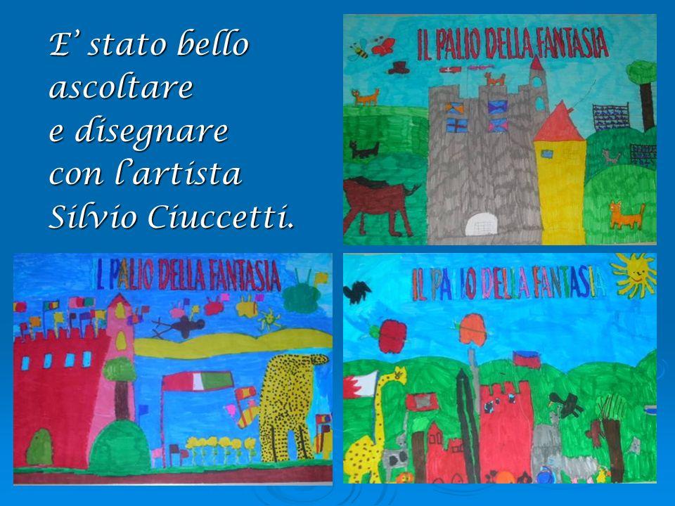E' stato bello ascoltare e disegnare con l'artista Silvio Ciuccetti.