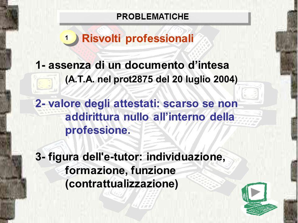 Risvolti professionali