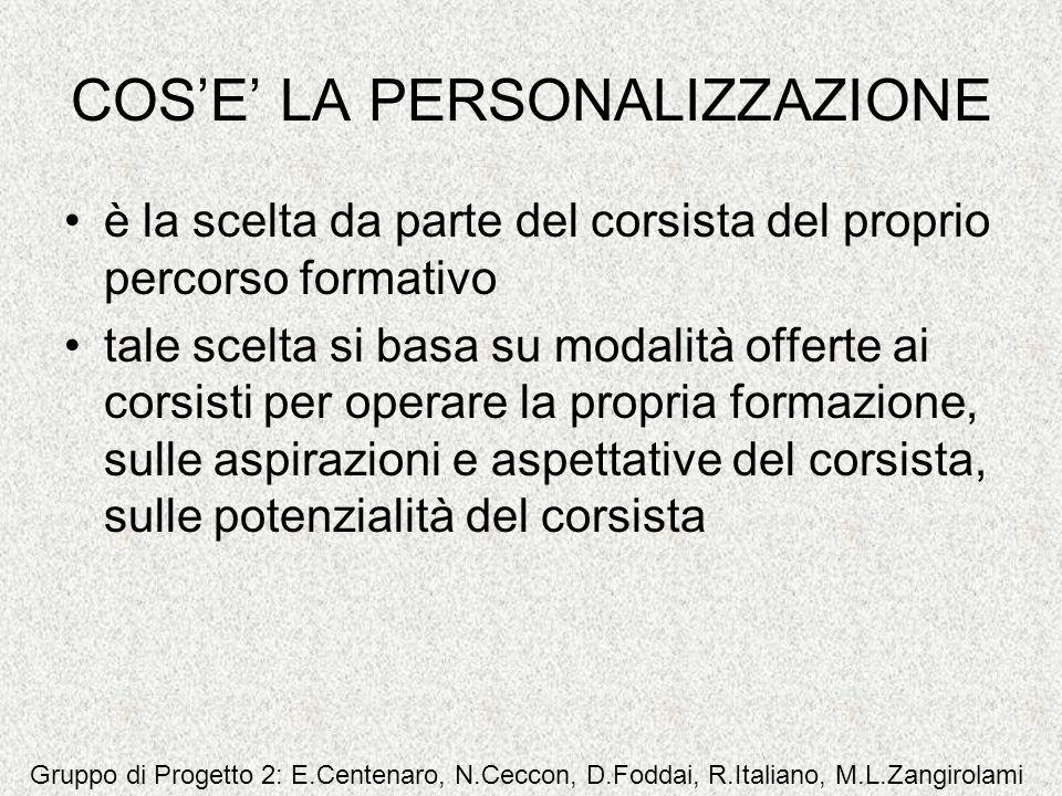 COS'E' LA PERSONALIZZAZIONE