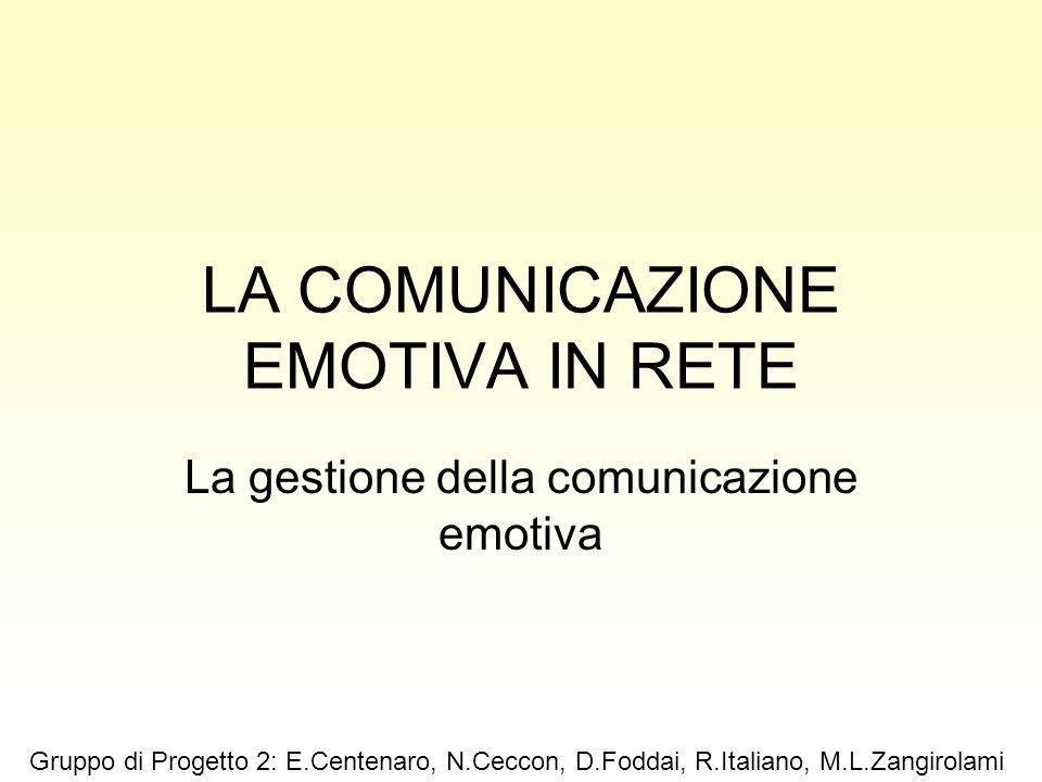 LA COMUNICAZIONE EMOTIVA IN RETE