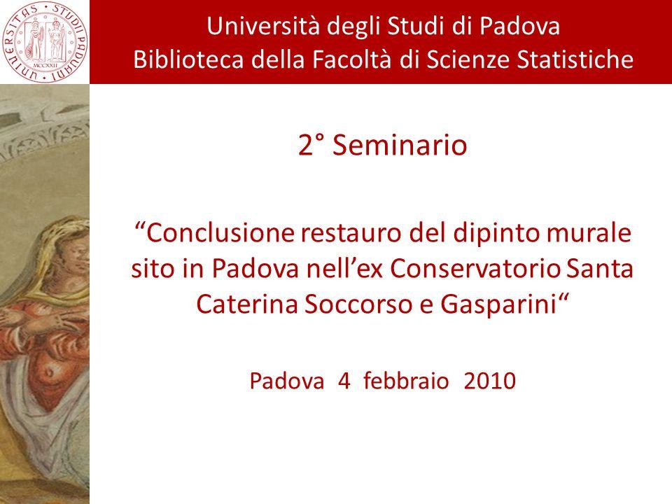 Università degli Studi di Padova Biblioteca di Scienze Statistiche