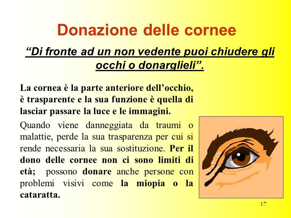Donazione delle cornee