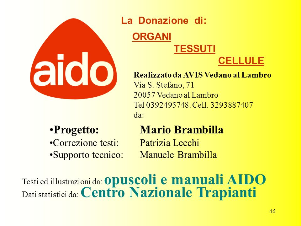 Progetto: Mario Brambilla