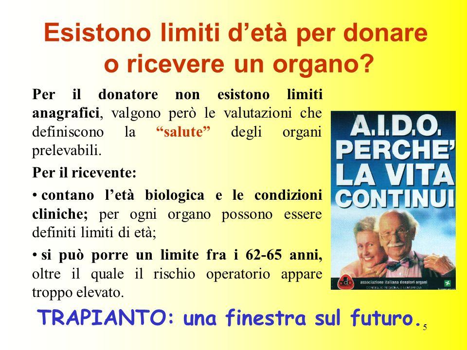 Esistono limiti d'età per donare o ricevere un organo