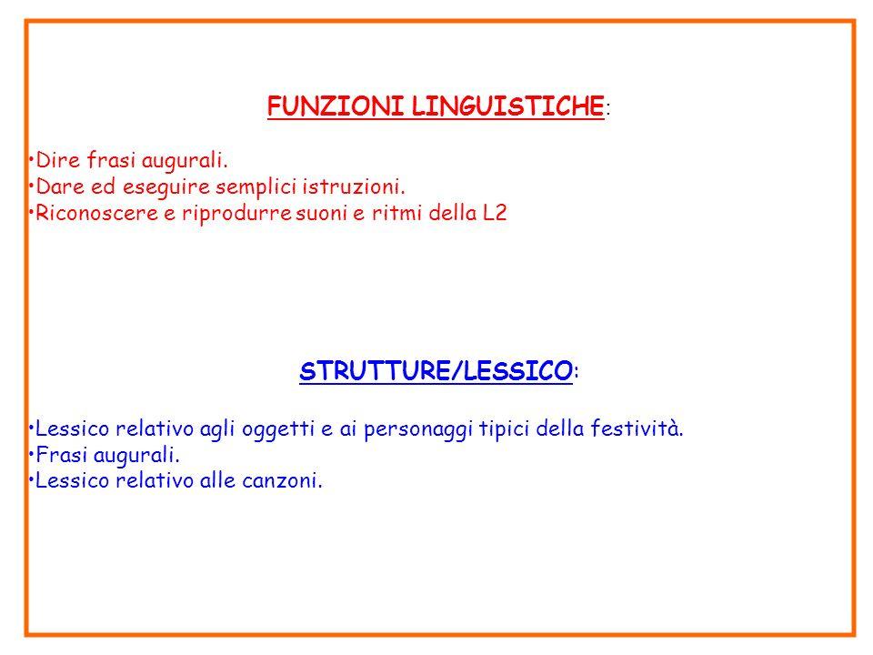 FUNZIONI LINGUISTICHE: