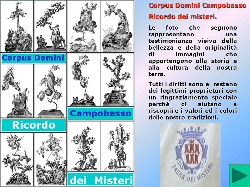 Corpus Domini Campobasso Ricordo dei misteri.