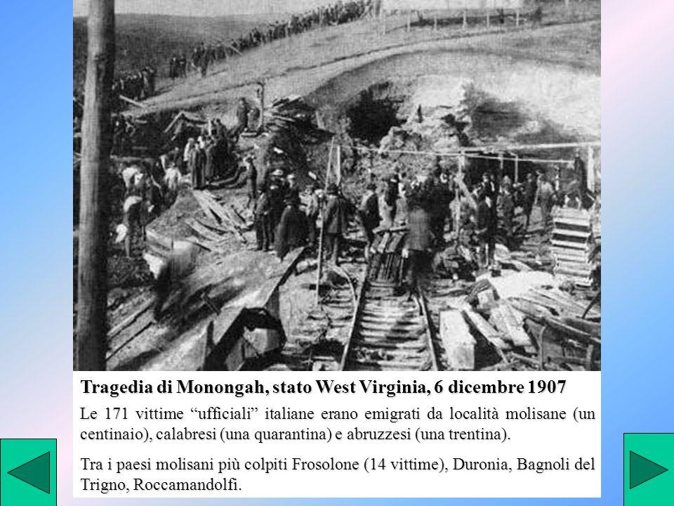 Tragedia di Monongah, stato West Virginia, 6 dicembre 1907