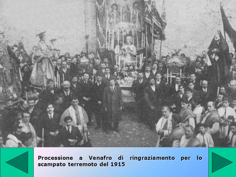 Processione a Venafro di ringraziamento per lo scampato terremoto del 1915