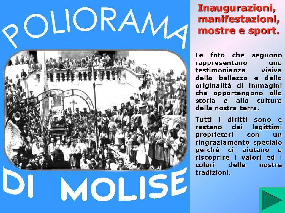 Inaugurazioni, manifestazioni, mostre e sport.