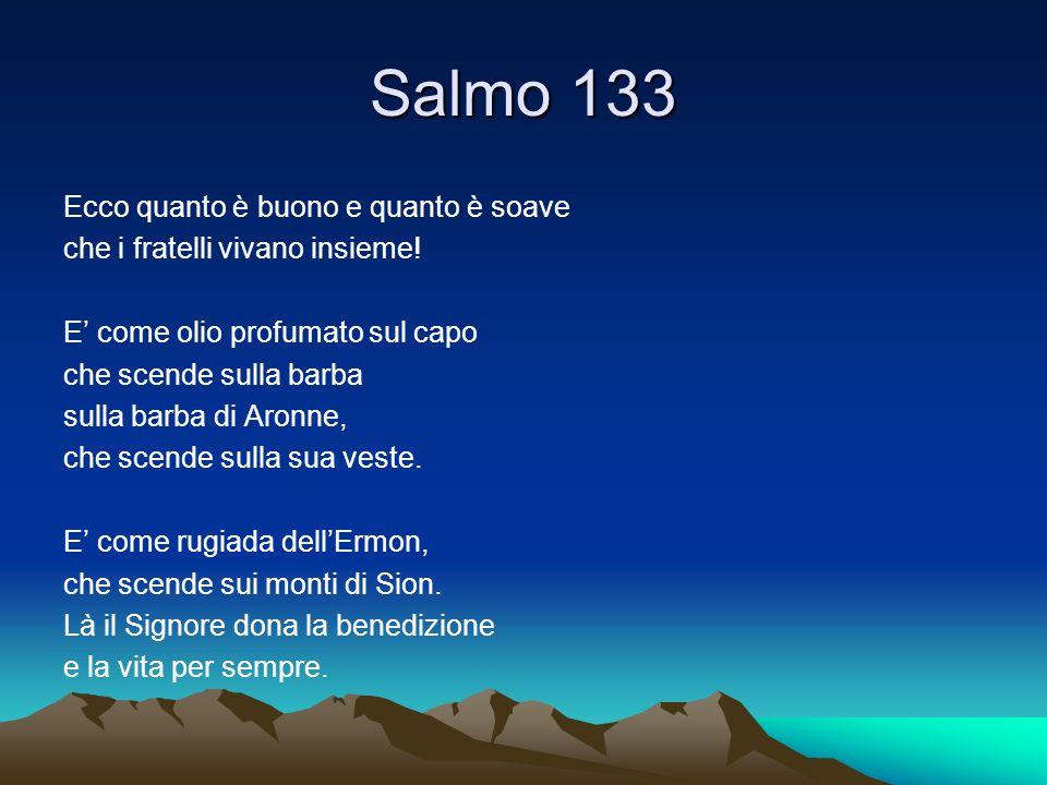 Salmo 133 Ecco quanto è buono e quanto è soave