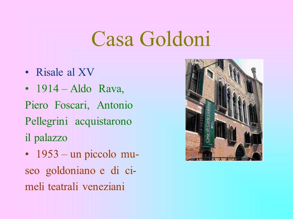 Casa Goldoni Risale al XV 1914 – Aldo Rava, Piero Foscari, Antonio