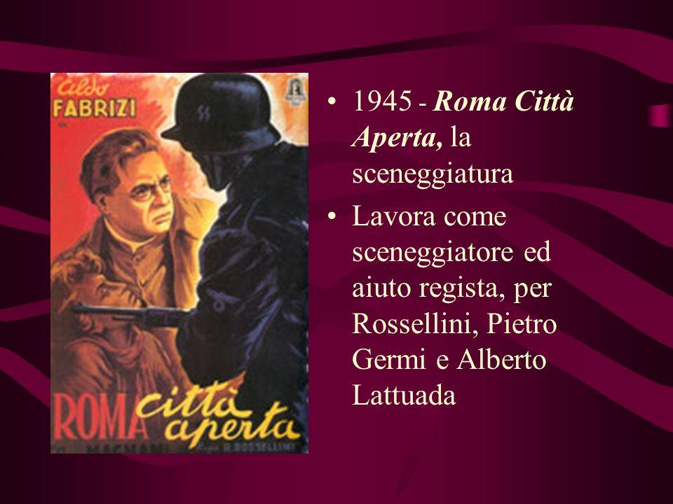 1945 - Roma Città Aperta, la sceneggiatura
