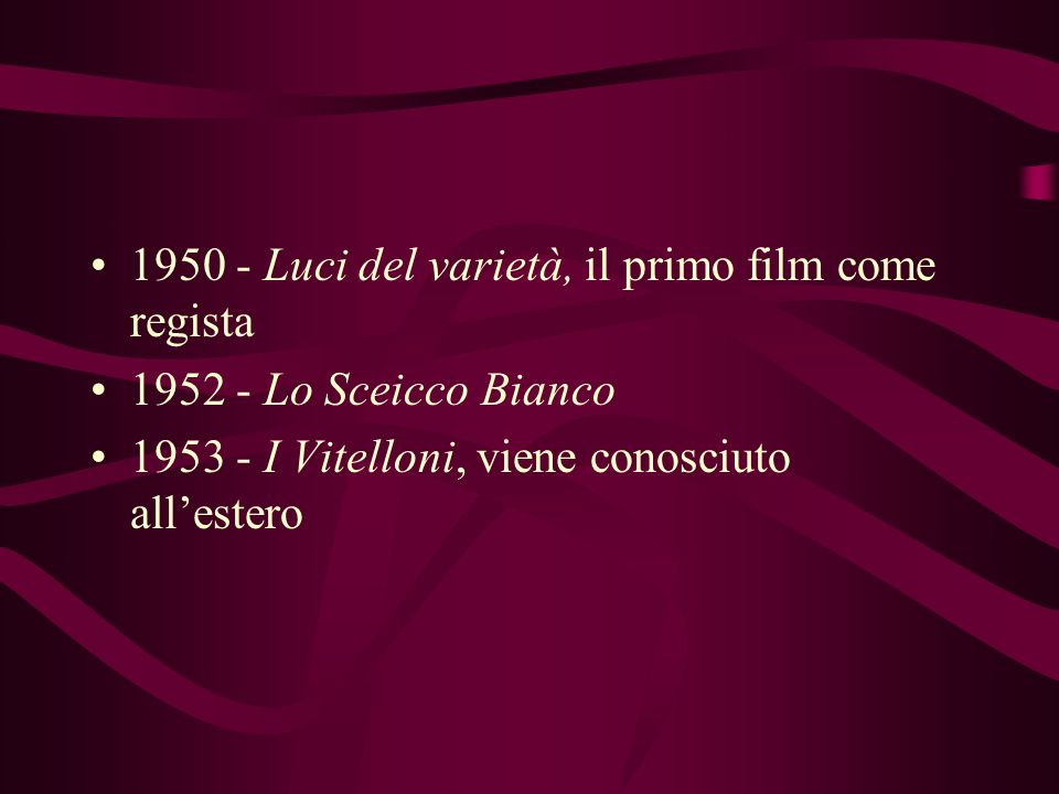 1950 - Luci del varietà, il primo film come regista