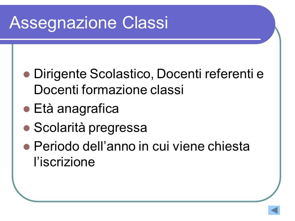 Assegnazione Classi Dirigente Scolastico, Docenti referenti e Docenti formazione classi. Età anagrafica.