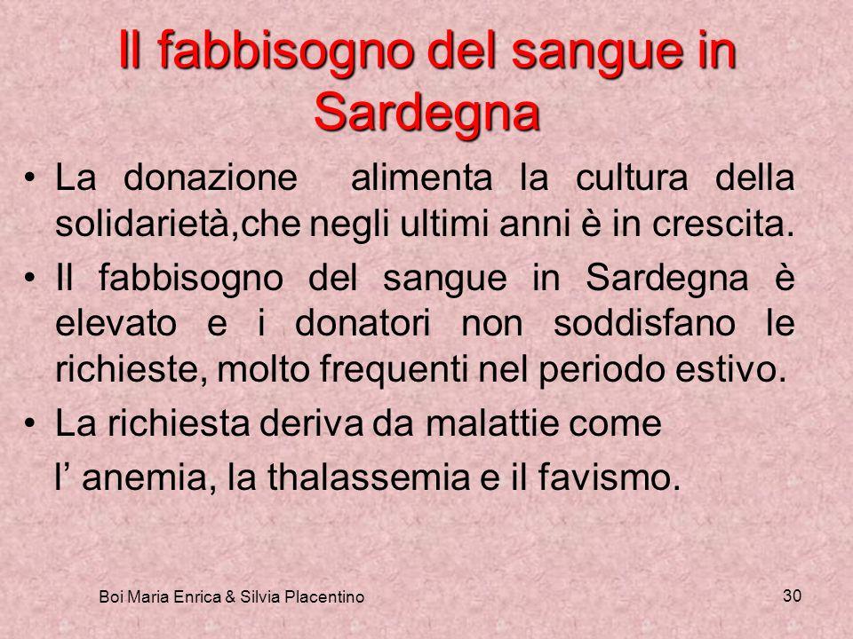 Il fabbisogno del sangue in Sardegna