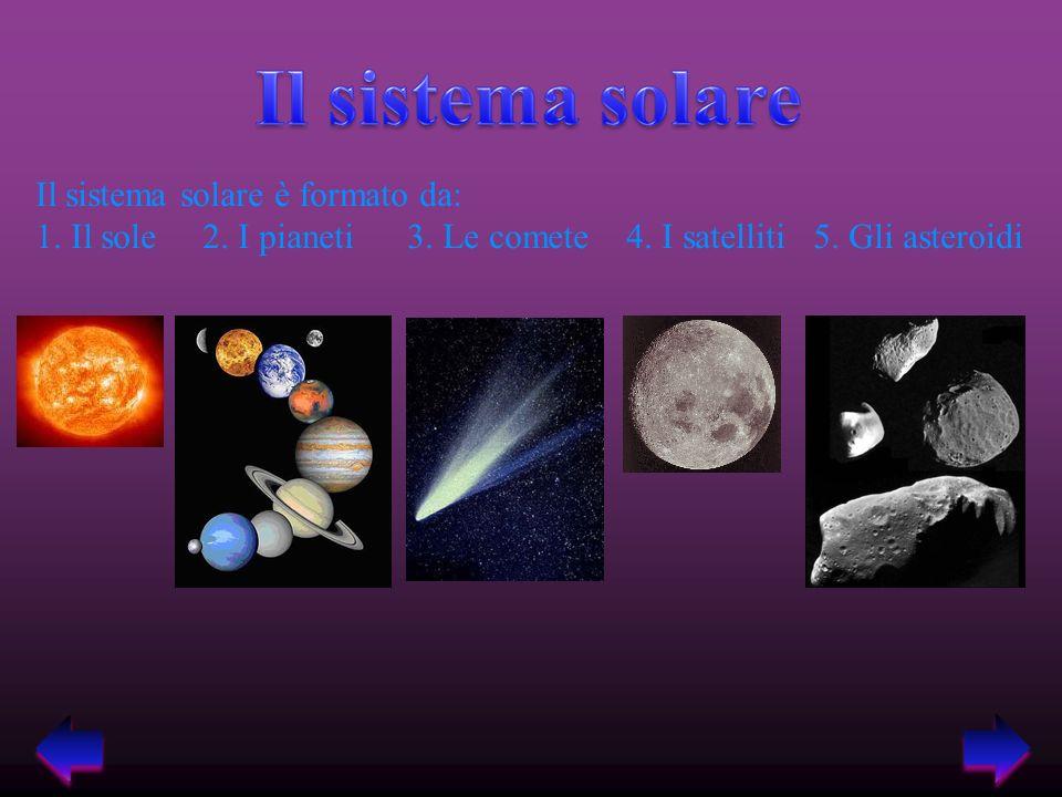 Il sistema solare è formato da: