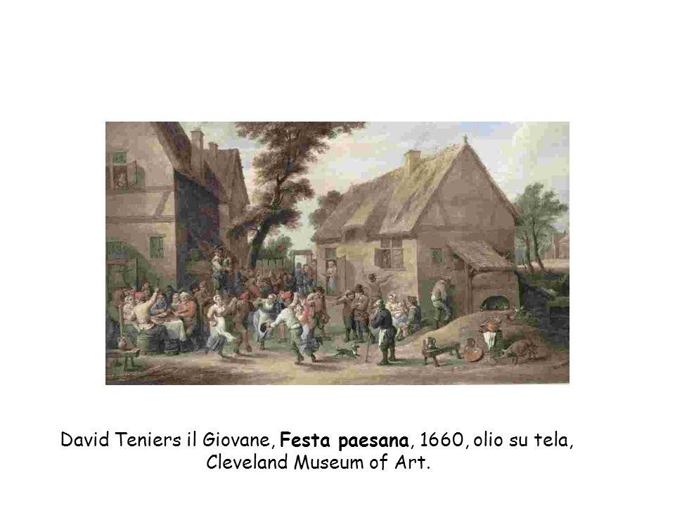 David Teniers il Giovane, Festa paesana, 1660, olio su tela,