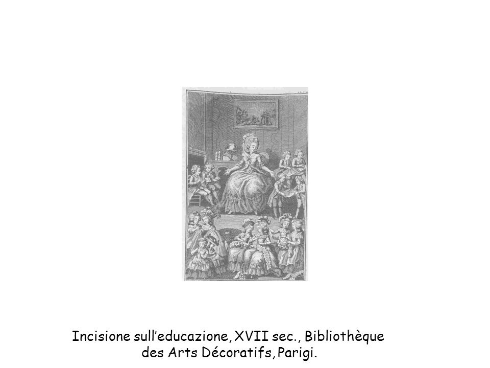 Incisione sull'educazione, XVII sec., Bibliothèque