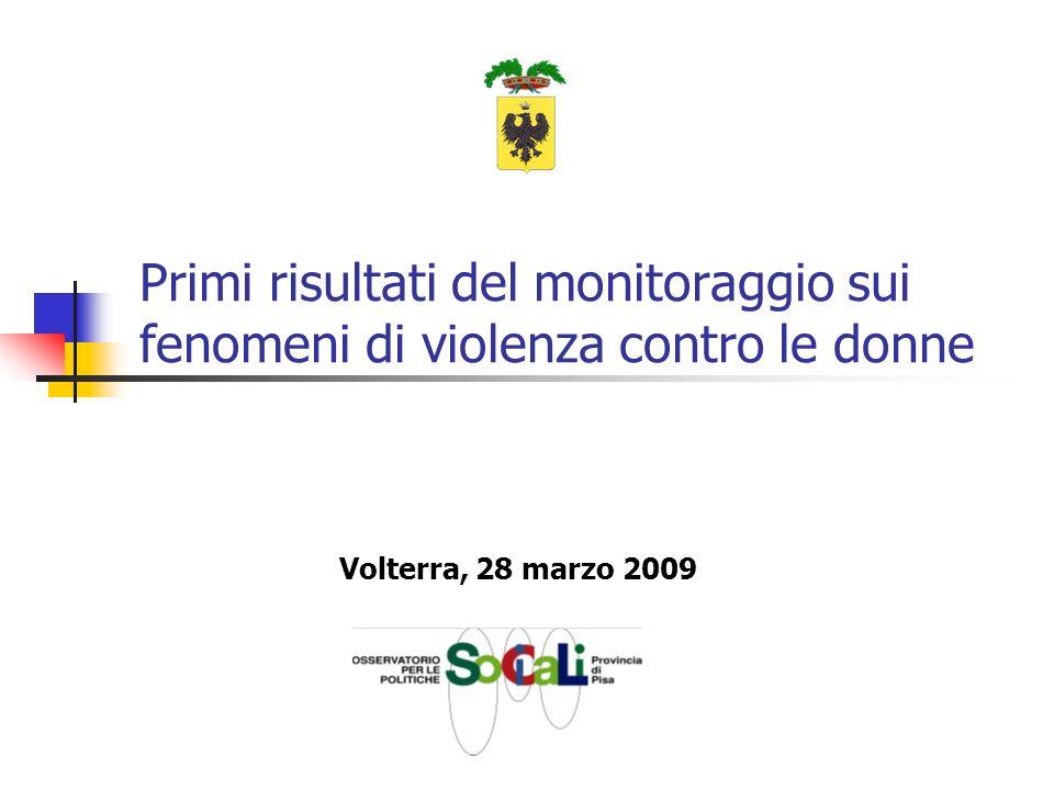 Primi risultati del monitoraggio sui fenomeni di violenza contro le donne