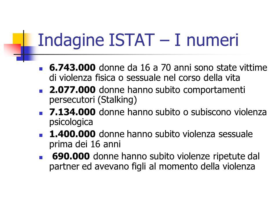 Indagine ISTAT – I numeri