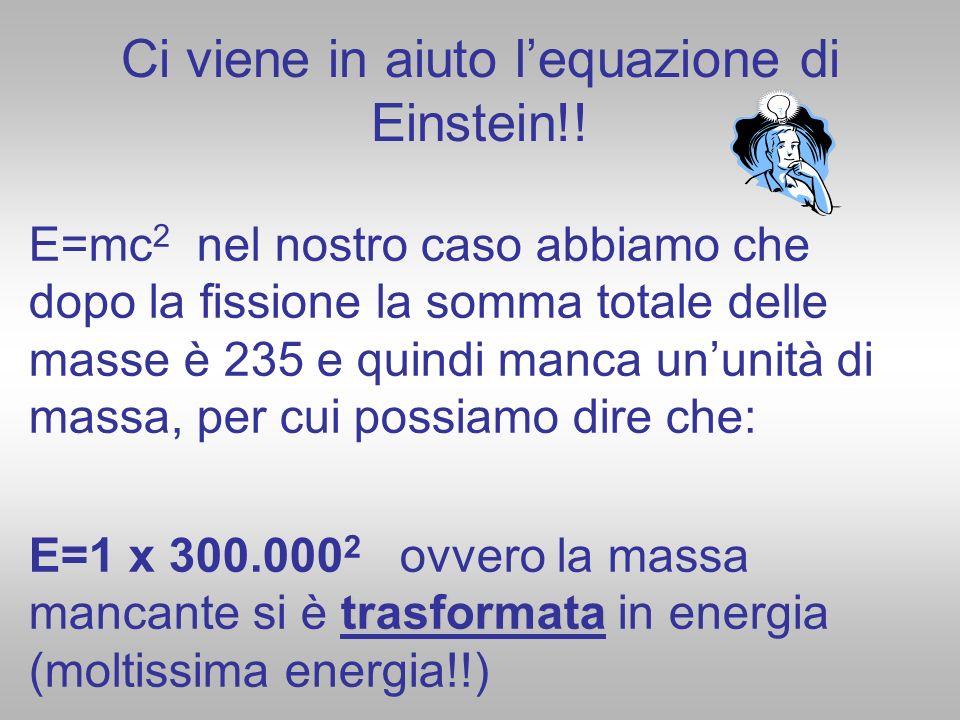 Ci viene in aiuto l'equazione di Einstein!!