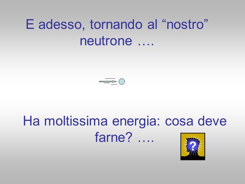 E adesso, tornando al nostro neutrone ….
