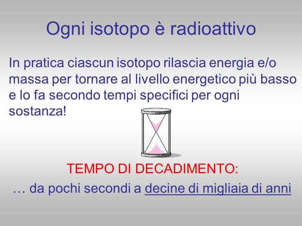 Ogni isotopo è radioattivo