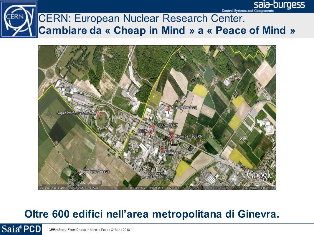 Oltre 600 edifici nell'area metropolitana di Ginevra.