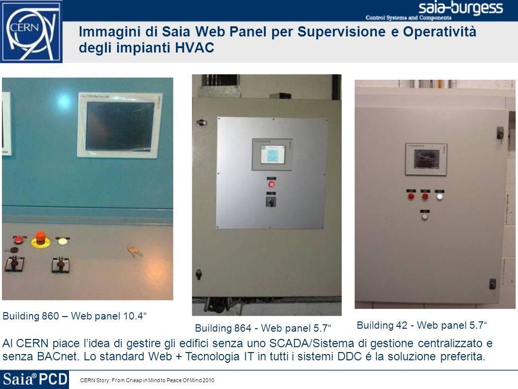 Immagini di Saia Web Panel per Supervisione e Operatività degli impianti HVAC