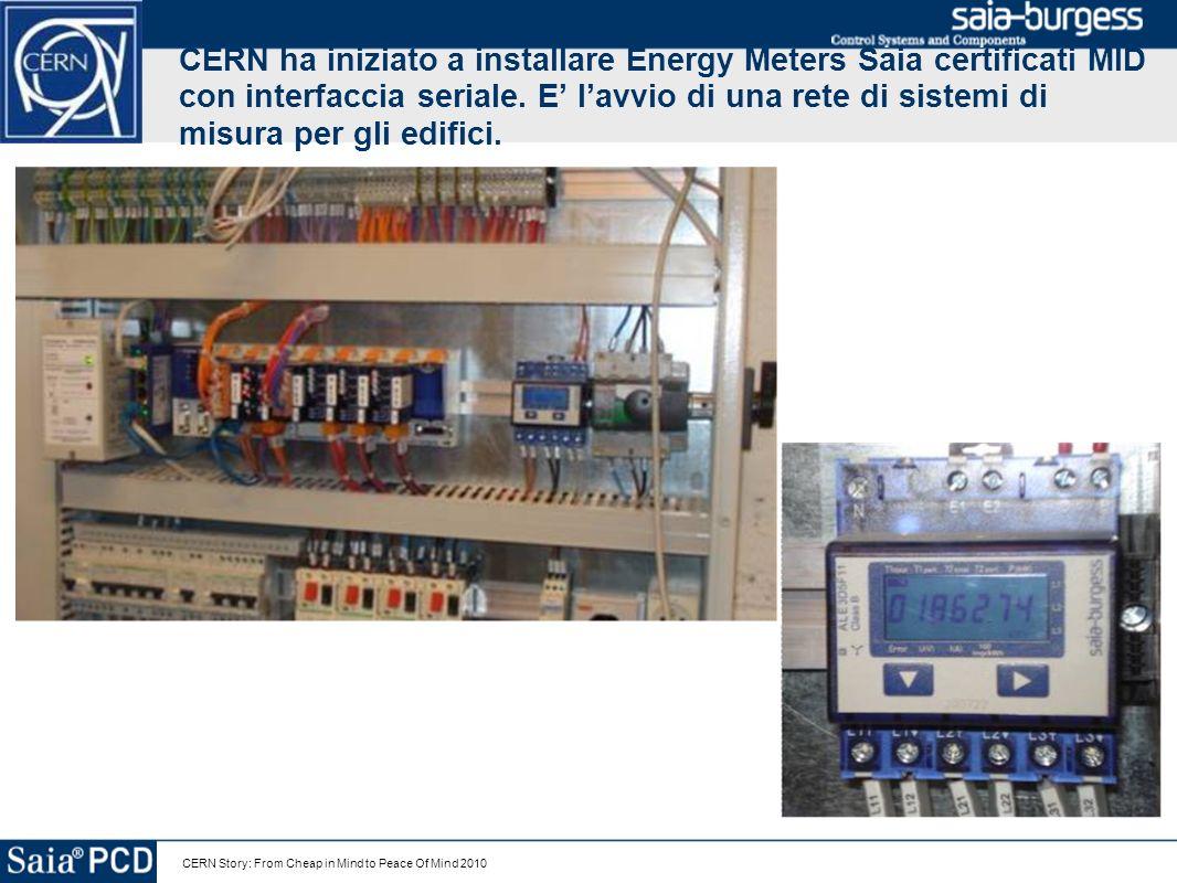 CERN ha iniziato a installare Energy Meters Saia certificati MID con interfaccia seriale. E' l'avvio di una rete di sistemi di misura per gli edifici.