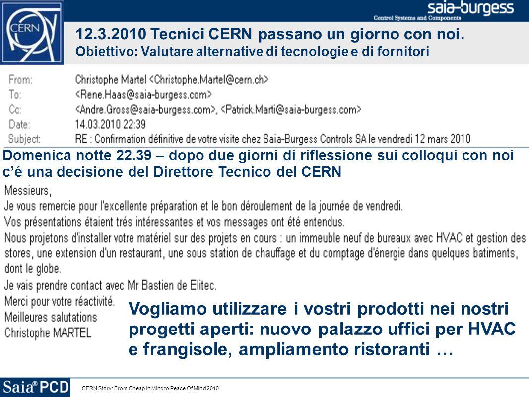 12.3.2010 Tecnici CERN passano un giorno con noi.