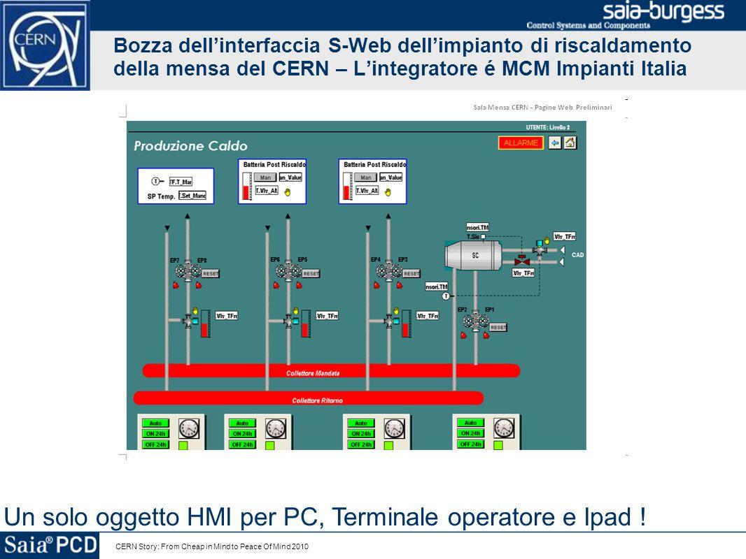 Un solo oggetto HMI per PC, Terminale operatore e Ipad !