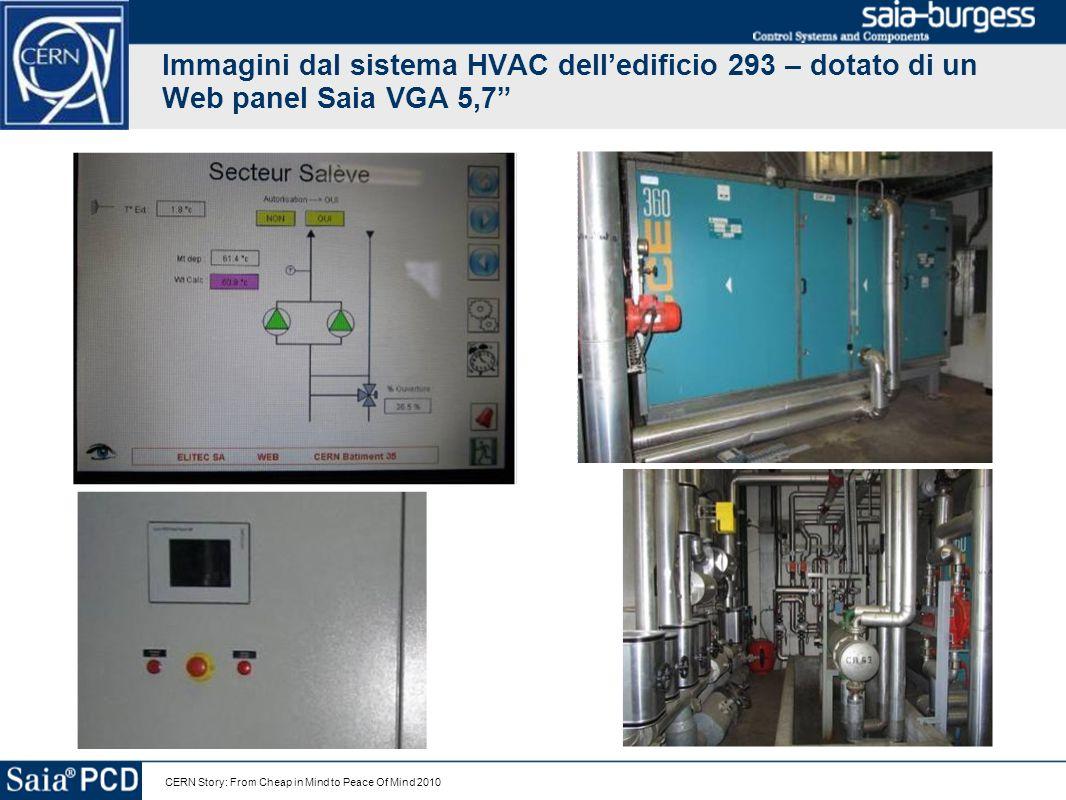 Immagini dal sistema HVAC dell'edificio 293 – dotato di un Web panel Saia VGA 5,7