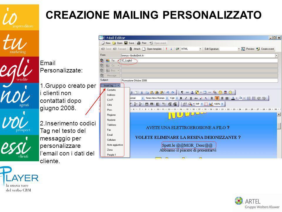 CREAZIONE MAILING PERSONALIZZATO