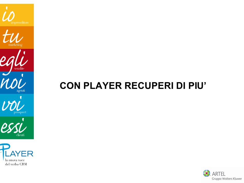 CON PLAYER RECUPERI DI PIU'
