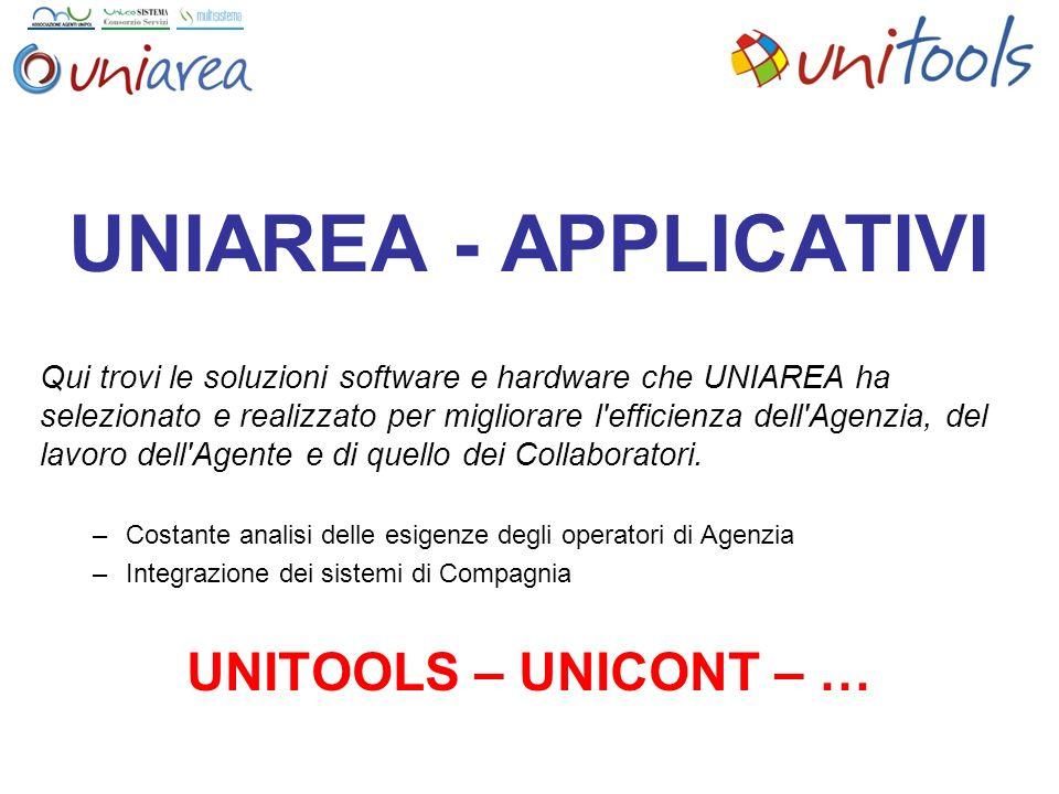 UNIAREA - APPLICATIVI UNITOOLS – UNICONT – …