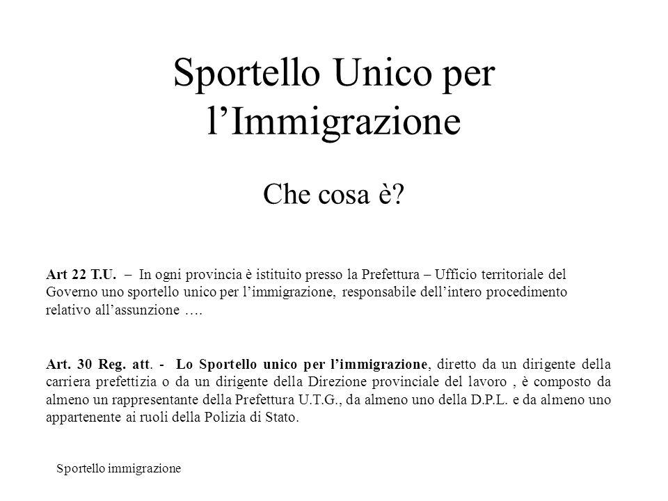 Sportello Unico Immigrazione