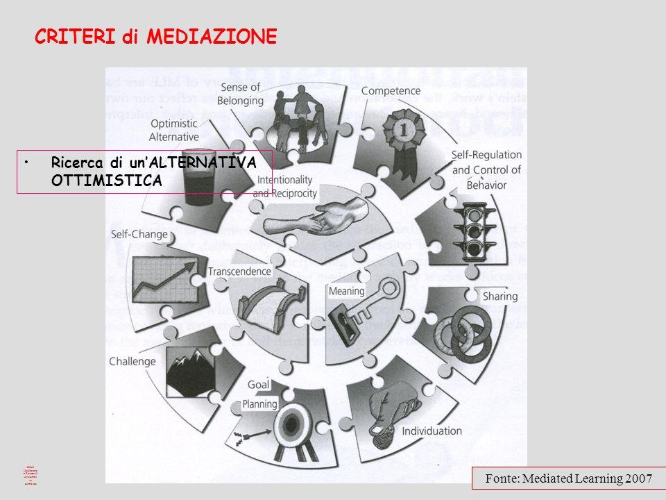 Criteri Mediazione – Ricerca di un'alternativa ottimistica