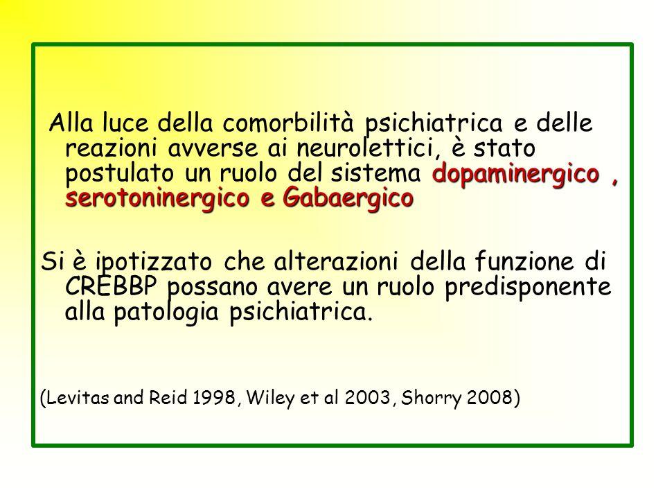 Alla luce della comorbilità psichiatrica e delle reazioni avverse ai neurolettici, è stato postulato un ruolo del sistema dopaminergico , serotoninergico e Gabaergico