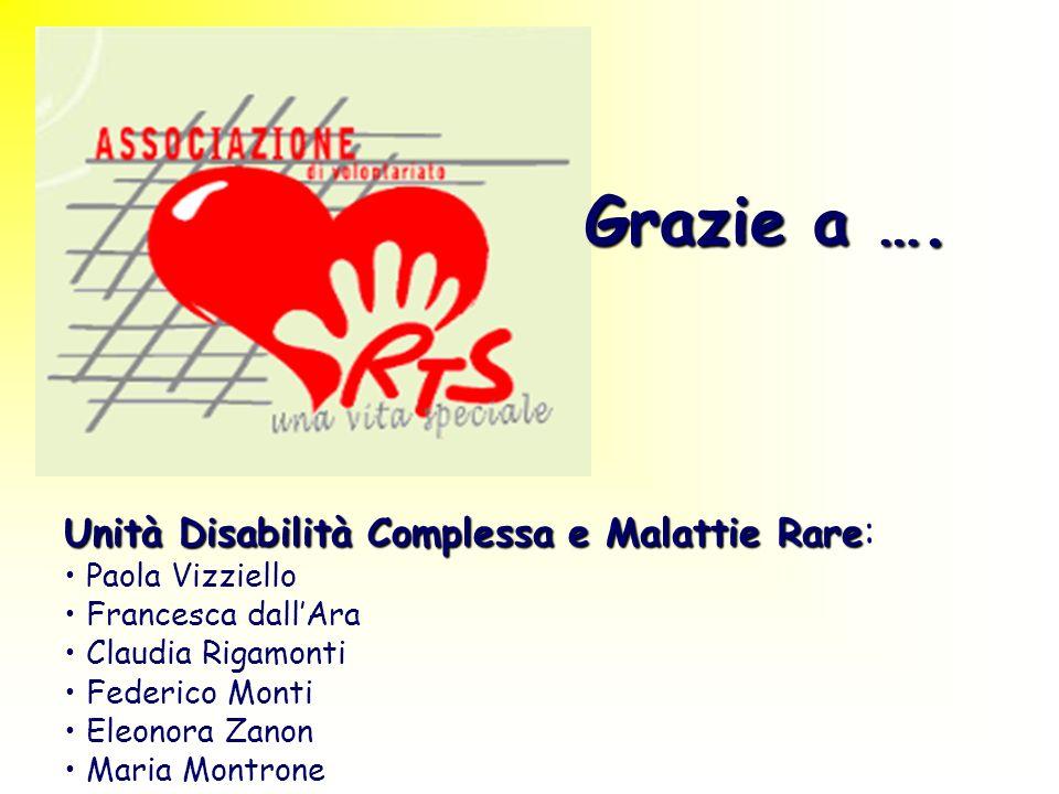 Grazie a …. Unità Disabilità Complessa e Malattie Rare: