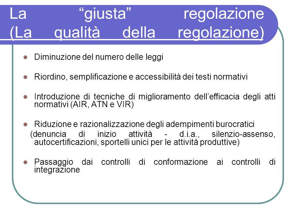 La giusta regolazione (La qualità della regolazione)